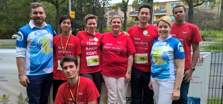 """Team """"Karin Korte"""" beim 3. Gropiuslauf in der Gropiusstadt"""
