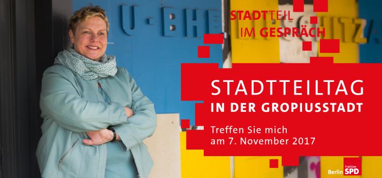 Stadtteiltag am 7. November – 55-jähriges Jubiläum der Grundsteinlegung der Gropiusstadt